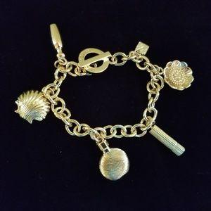Estee Lauder Gold Charm Bracelet